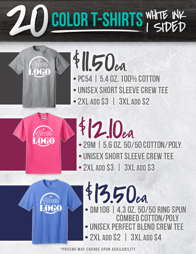 Custom Shirt Pricing 2